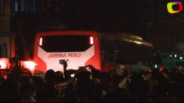 Selección peruana recibe el apoyo del hincha peruano