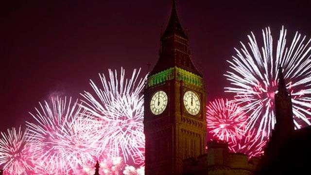 Así celebraron la llegada del 2014 en Londres
