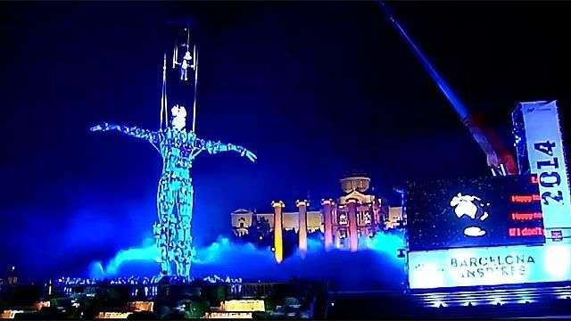 'El hombre del milenio' recibe el 2014 en Barcelona
