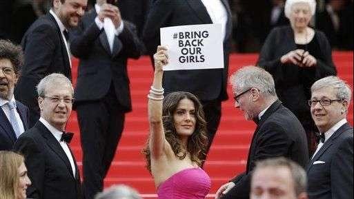 Artistas en Cannes piden fin del secuestro de niñas nigerianas