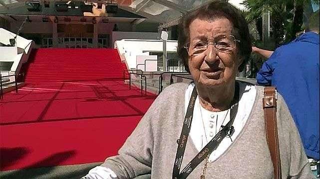 La decana del Festival de Cannes tiene 97 años