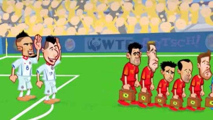 Recrean en dibujos animados lo mejor de la Copa del Mundo