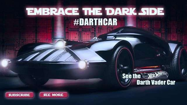 Video: Darth Vader Hot Wheels