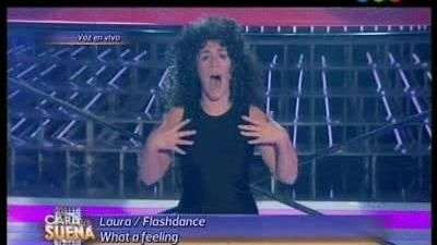 Laura Esquivel bailó al ritmo de Flashdance