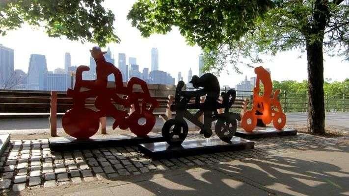 122 bicicletas mexicanas adornan las calles de Nueva York
