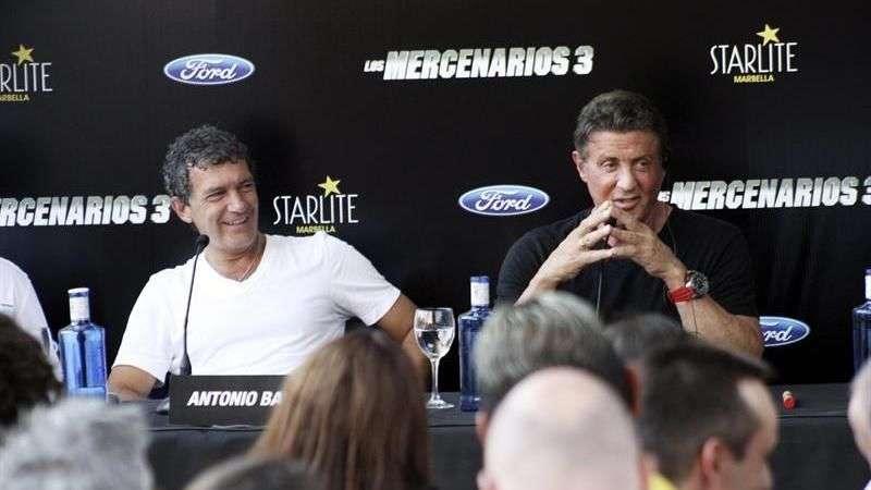 """Stallone y Banderas presentan """"Los Mercenarios 3"""""""
