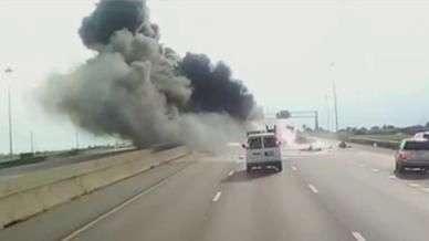 Homem salva família em acidente de carro; ação é registrada