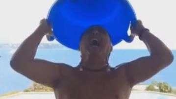 Galvão Bueno entra na febre do desafio do balde de gelo