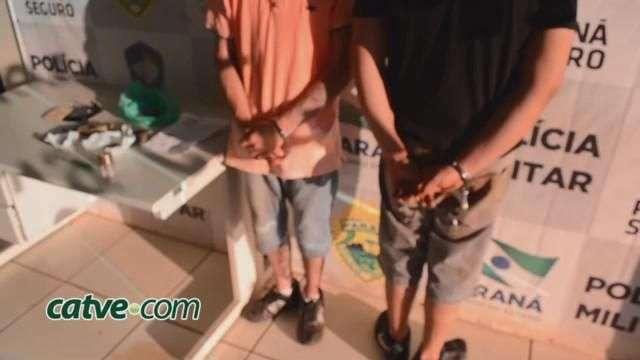 Duas pessoas são detidas com maconha no Jardim Panorama