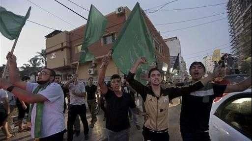Palestinos celebran alto al fuego