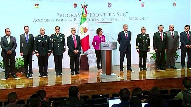México detalla su plan de control de migración