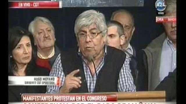 """Moyano: """"Los trabajadores no producimos hechos de violencia"""""""