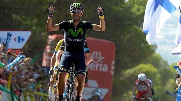 Valverde gana la sexta etapa y es nuevo líder de la Vuelta