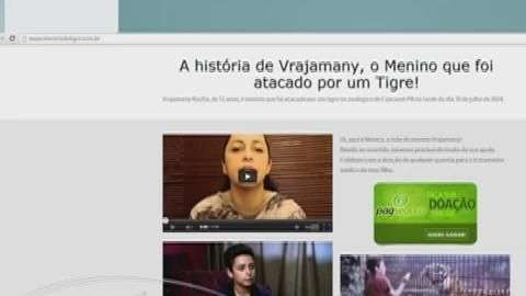 Tigre Hu: família de Vrajamany cria página na internet