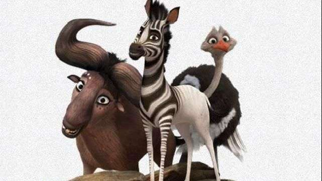Una cebra demuestra su valentía en filme Khumba