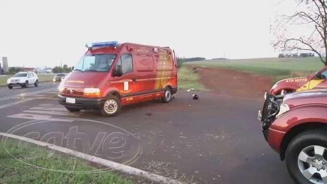Motociclista fica gravemente ferido em acidente na BR-369