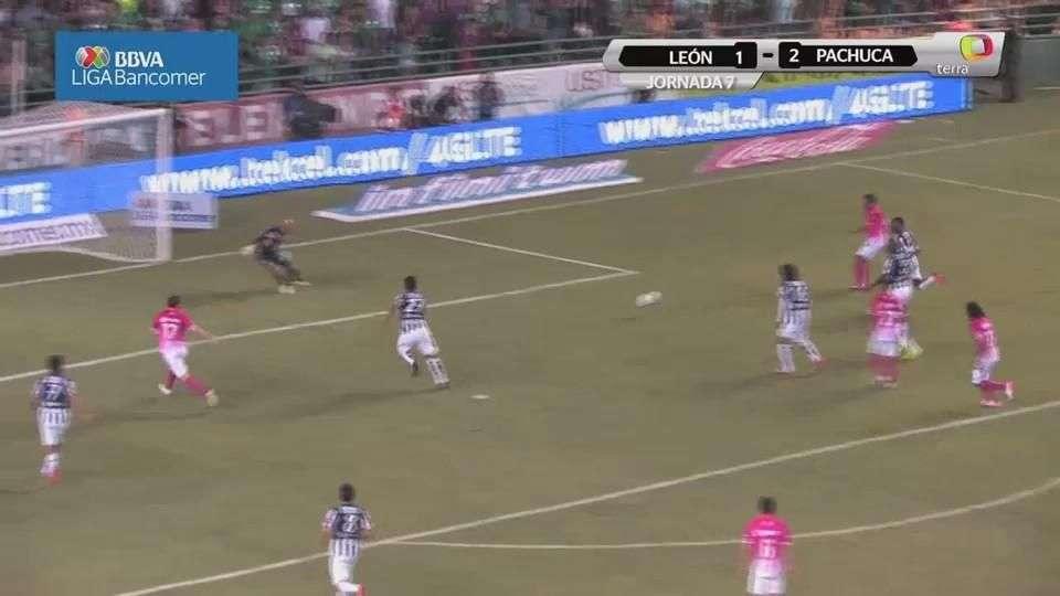 Jornada 7, León 1-2 Pachuca, Apertura 2014