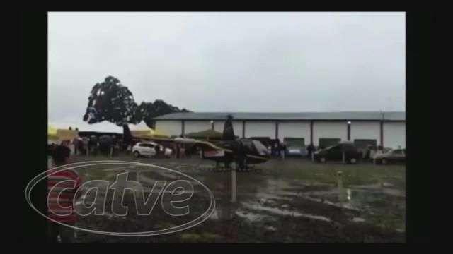 Helicóptero que levava cinco pessoas cai em Candói