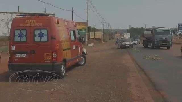 BR 163: Motociclista fica ferido em acidente próximo de Marechal