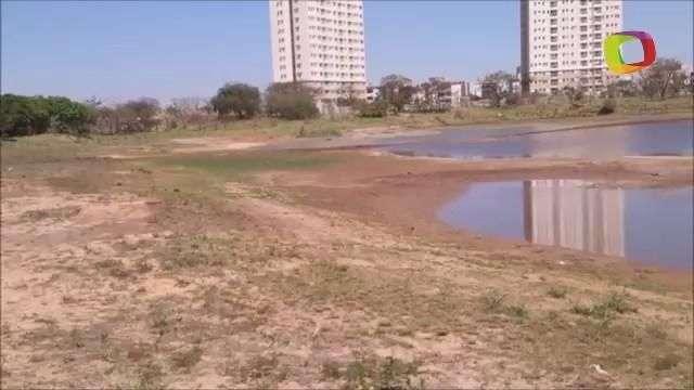 SP: leitor registra lagoa quase seca em Ribeirão Preto