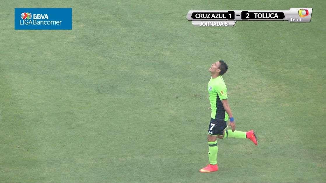 Jornada 8, Cruz Azul 1-2 Toluca, Apertura 2014