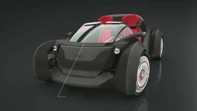 Video: El primer 3D-printed Auto