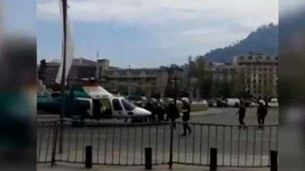 Así fue el rescate de Carabinero accidentado en Plaza Italia