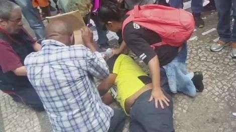 SP: homem passa mal após confronto entre PM e manifestantes