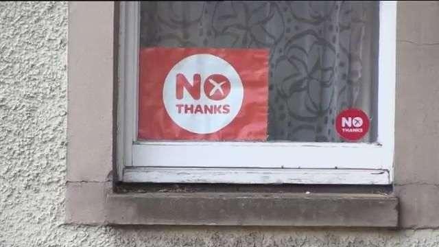 "Ligera ventaja del ""no"" a un día del referéndum en Escocia"