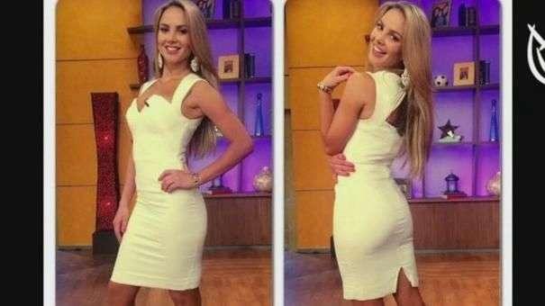 A Ximena Córdoba le gusta lucir sus curvas