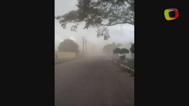 Vento atinge 44 km/h e levanta poeira em Sinop, no Mato Grosso