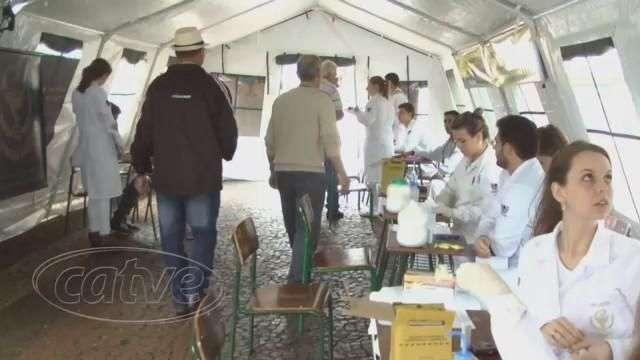 Exames de saúde são realizados no calçadão de Cascavel
