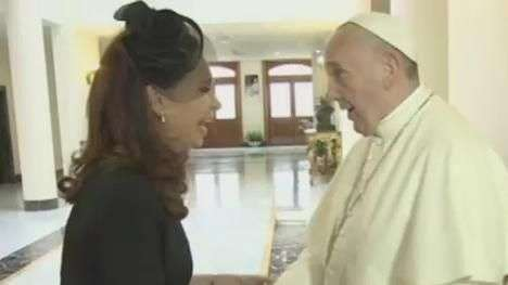 Papa Francisco recebe Cristina Kirchner no Vaticano