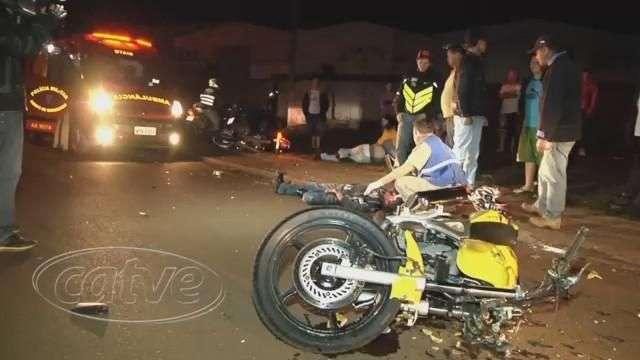 Grave acidente entre motos deixa três feridos no Interlagos