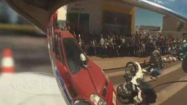 Simulado: Estudante é atropelado em frente à escola em Cascavel