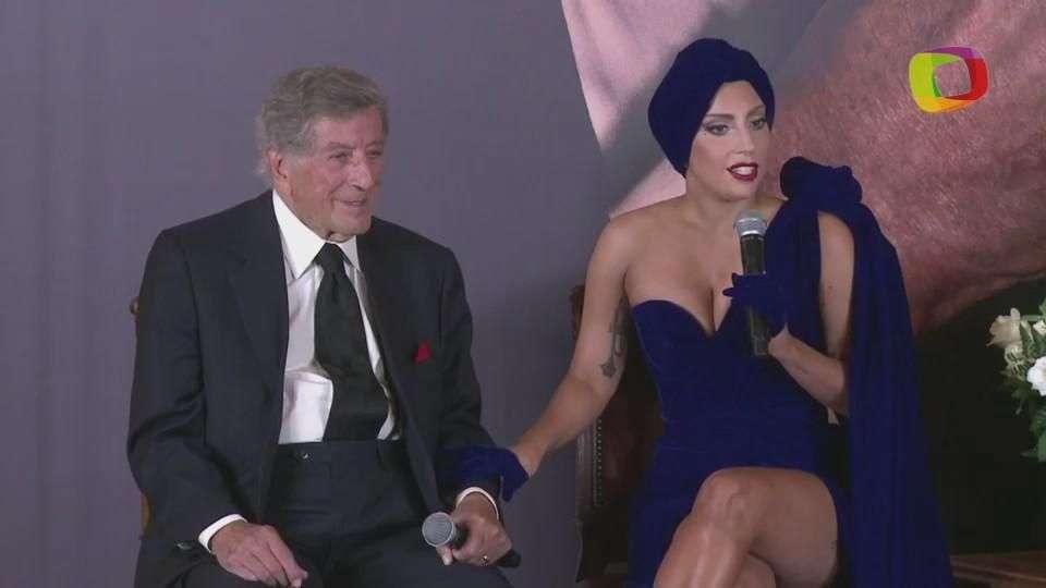 """Lady Gaga y Tony Bennett presentan su álbum """"Cheek to cheek"""""""