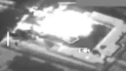 EUA divulgam imagens de explosão de alvo em ataques à Síria