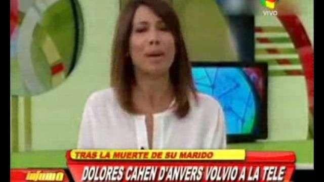 Cahen D'Anvers volvió a la TV tras la muerte de su marido