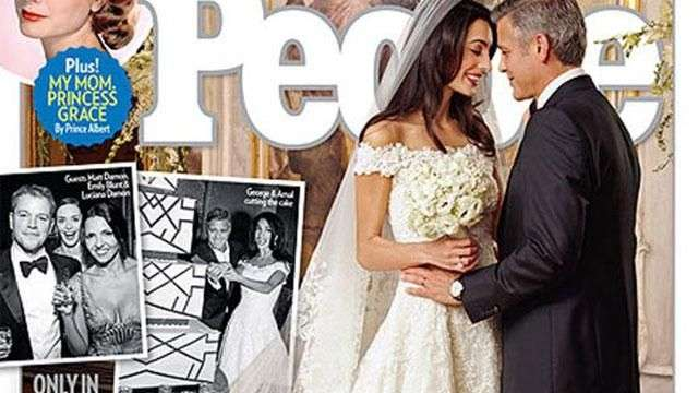 George Clooney and Amal Alamuddin's First Wedding Photo