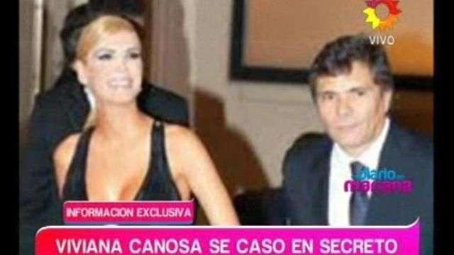 Viviana Canosa se casó en secreto con Alejandro Borensztein