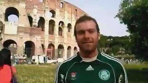 Palmeiras: torcedores comemoram Centenário no Coliseu de Roma