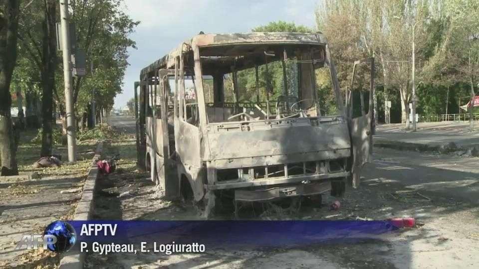 Separatistas bombardean escuela en Ucrania