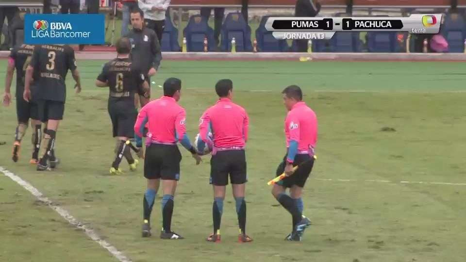 Jornada 13, Pumas 1-1 Pachuca, Apertura 2014