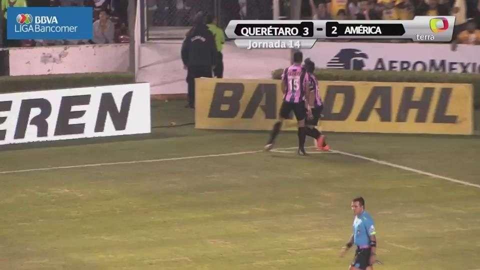 Jornada 14, Querétaro 3-2 América, Apertura 2014