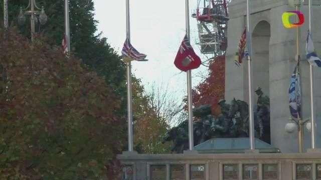 Realizan homenaje al soldado abatido en tiroteo en Canadá