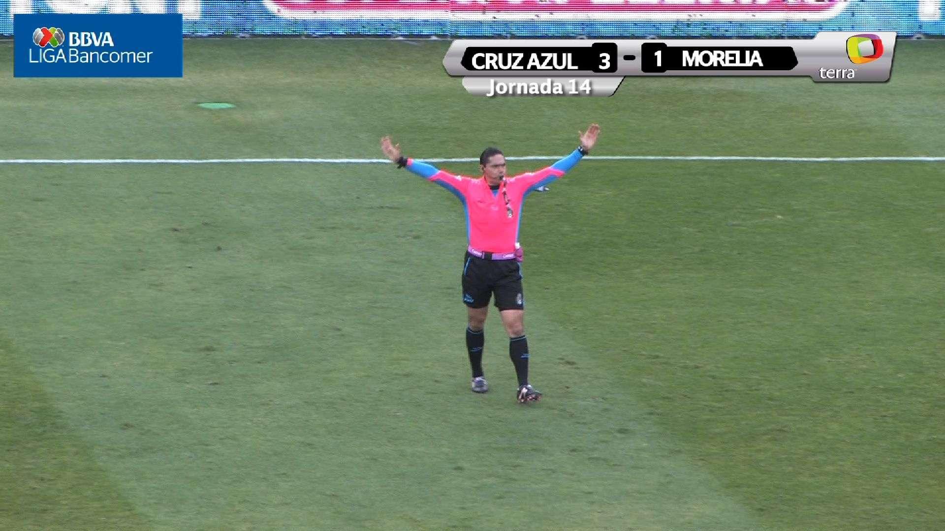 Jornada 14, Cruz Azul 3-1 Morelia, Apertura 2014
