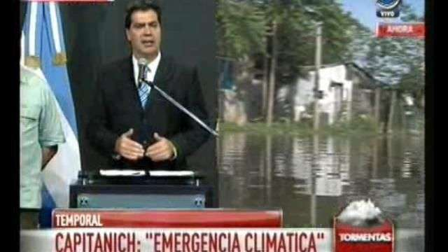Emergencia climática: hay mil evacuados, informó Capitanich
