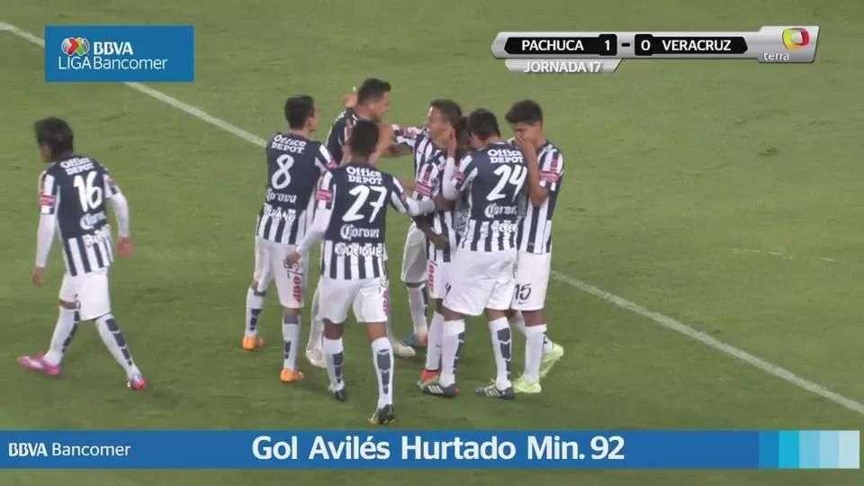 Jornada 17, Pachuca 1-0 Veracruz, Apertura 2014