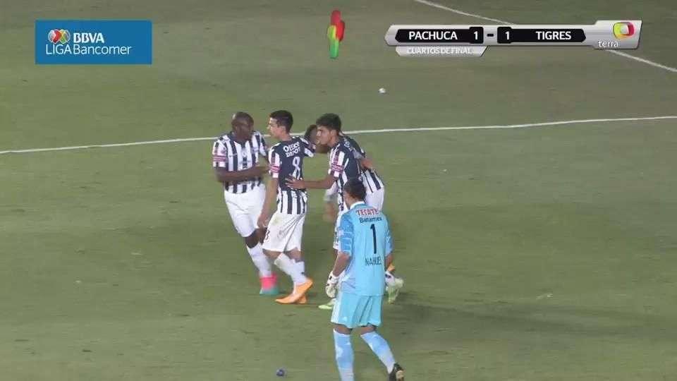 Cuartos de final, Pachuca 1-1 Tigres, Apertura 2014