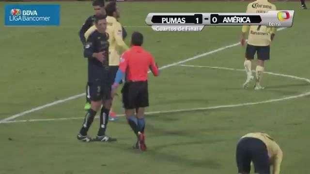 Cuartos de final, Pumas 1-0 América, Apertura 2014